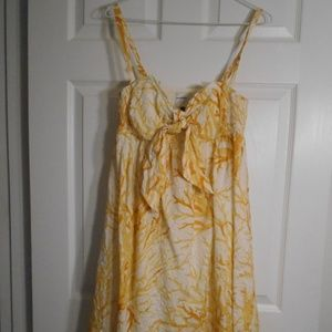 Anthropologie HD in Paris yellow sundress size 8